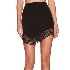 Premonition Devotion Black Mini Skirt